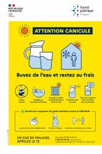 Attention canicule affiche en français