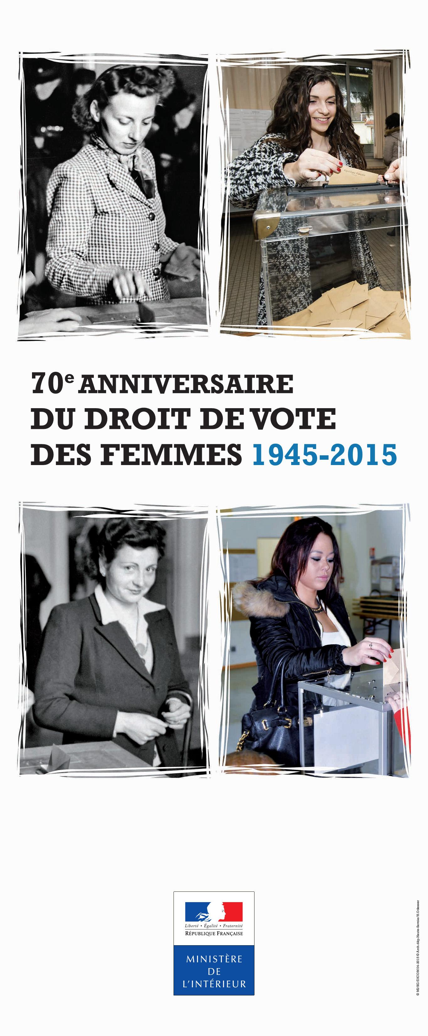 70e anniversaire du droit de vote des femmes 1945 2015 archives egalit femmes hommes. Black Bedroom Furniture Sets. Home Design Ideas